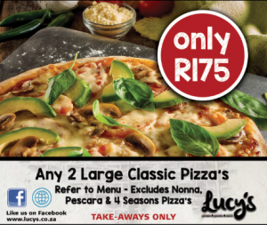 Lucys Pizza Specials