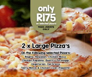 Lucys Pizza Specials pizza